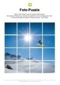 Fotopuzzle - Snowboarder