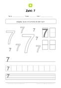 Zahlen schreiben lernen - Kostenlose Arbeitsblätter