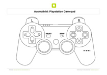 Ausmalbild Playstation Gamepad