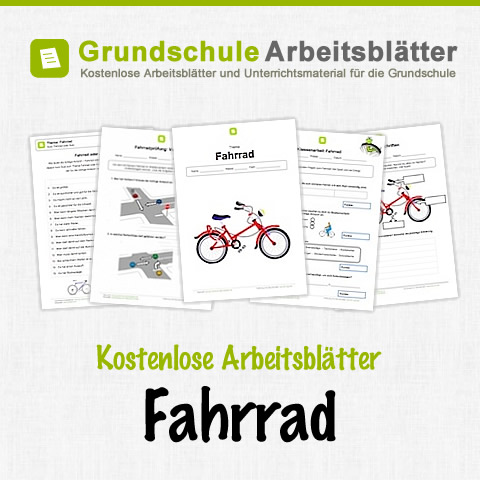 fahrrad kostenlose arbeitsbl tter. Black Bedroom Furniture Sets. Home Design Ideas