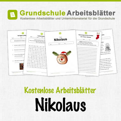 nikolaus kostenlose arbeitsbl tter. Black Bedroom Furniture Sets. Home Design Ideas