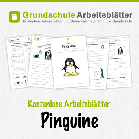 pinguine kostenlose arbeitsbl tter. Black Bedroom Furniture Sets. Home Design Ideas