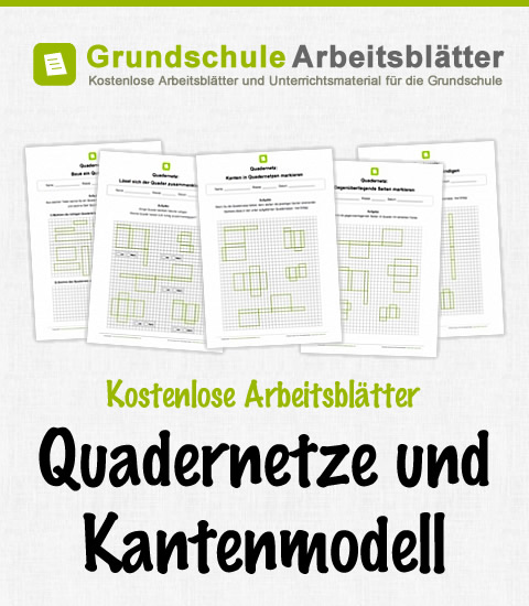 quadernetze und kantenmodell kostenlose arbeitsbl. Black Bedroom Furniture Sets. Home Design Ideas