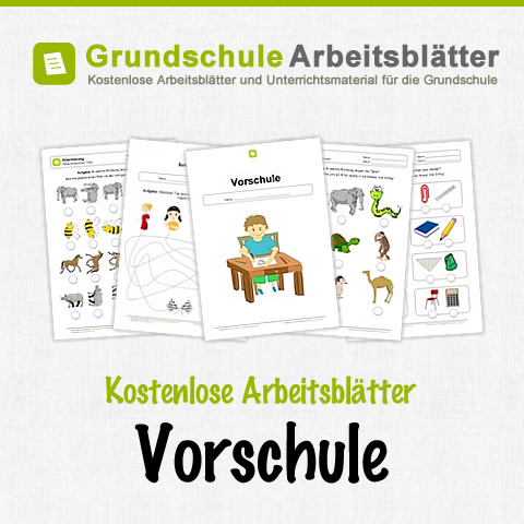 kostenlose arbeitsbltter fr die vorschule und den kindergarten. Black Bedroom Furniture Sets. Home Design Ideas