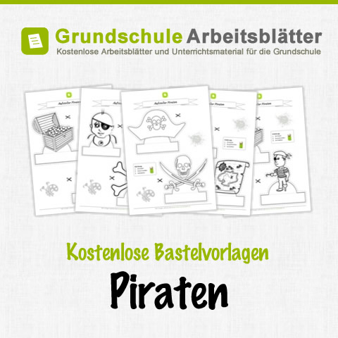 bastelvorlagen piraten f r kinder kostenlose arbei. Black Bedroom Furniture Sets. Home Design Ideas